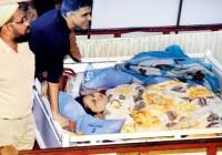 Dr Muffazal Lakdawala with Eman Ahmed on her arrival in Saifee Hospital Mumbai India on February 11