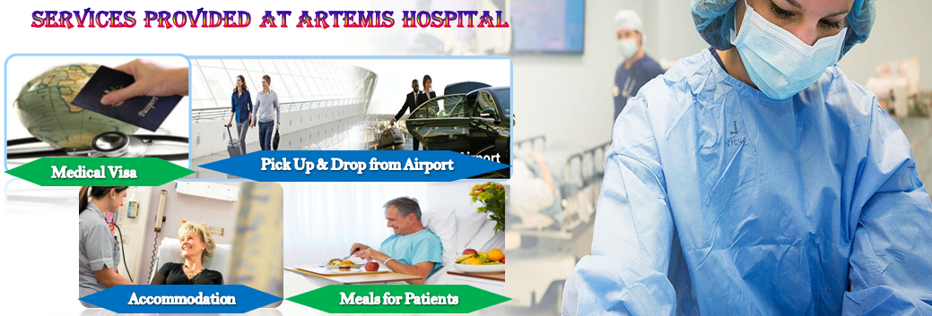 Services provided at Artemis hospital India
